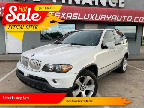2005 BMW X5 for sale at Texas Luxury Auto in Cedar Hill TX