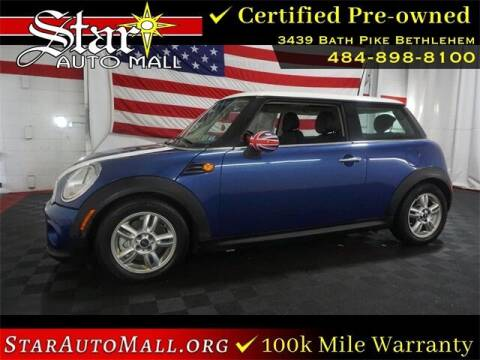 2012 MINI Cooper Hardtop for sale at STAR AUTO MALL 512 in Bethlehem PA