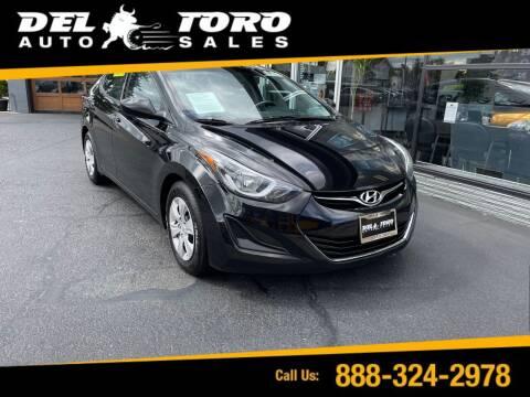 2016 Hyundai Elantra for sale at DEL TORO AUTO SALES in Auburn WA