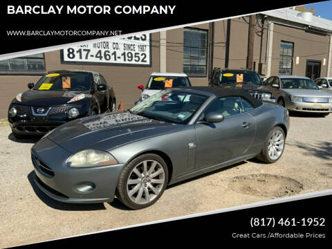 2007 Jaguar XK-Series for sale at BARCLAY MOTOR COMPANY in Arlington TX