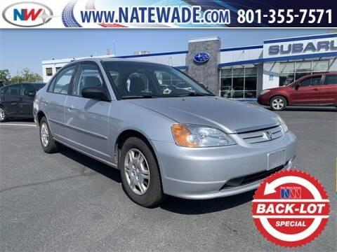 2002 Honda Civic for sale at NATE WADE SUBARU in Salt Lake City UT