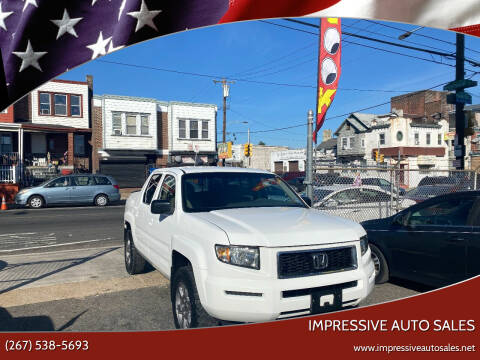 2008 Honda Ridgeline for sale at Impressive Auto Sales in Philadelphia PA