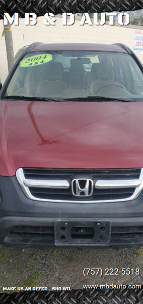 2004 Honda CR-V for sale at M B & D AUTO in Va Beach VA