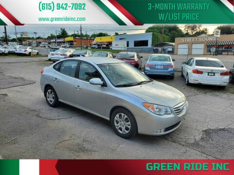 2010 Hyundai Elantra for sale at Green Ride Inc in Nashville TN