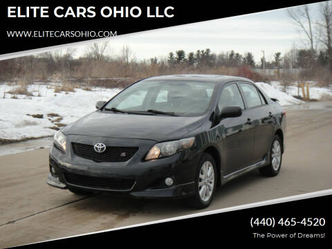 2010 Toyota Corolla for sale at ELITE CARS OHIO LLC in Solon OH