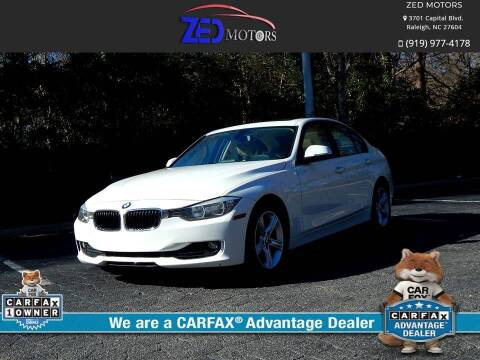 2014 BMW 3 Series for sale at Zed Motors in Raleigh NC