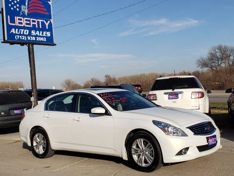 2011 Infiniti G37 Sedan for sale at Liberty Auto Sales in Merrill IA