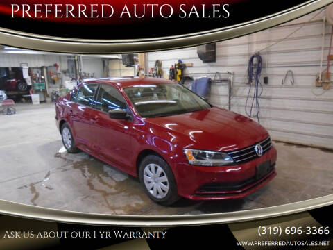 2016 Volkswagen Jetta for sale at PREFERRED AUTO SALES in Lockridge IA