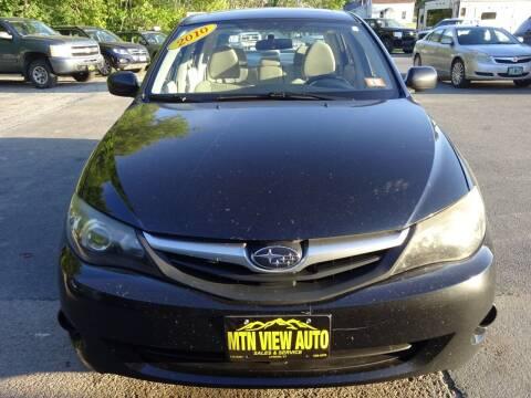 2010 Subaru Impreza for sale at MOUNTAIN VIEW AUTO in Lyndonville VT