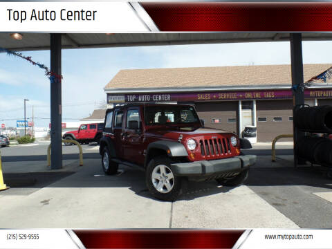 2009 Jeep Wrangler Unlimited for sale at Top Auto Center in Quakertown PA