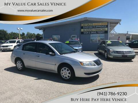 2007 Saturn Ion for sale at My Value Car Sales - Upcoming Cars in Venice FL