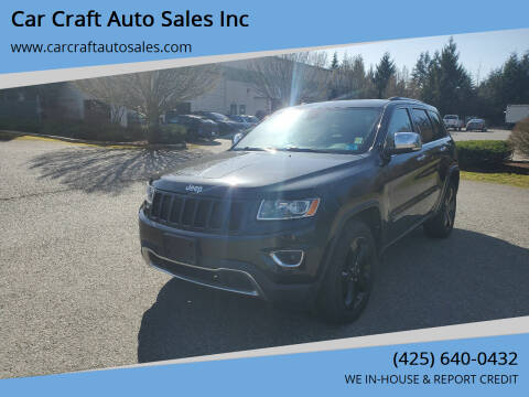 2014 Jeep Grand Cherokee for sale at Car Craft Auto Sales Inc in Lynnwood WA