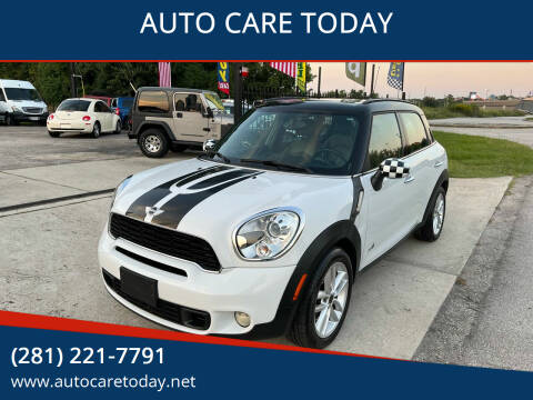 2012 MINI Cooper Countryman for sale at AUTO CARE TODAY in Spring TX