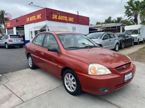 2003 Kia Rio for sale at 3K Auto in Escondido CA