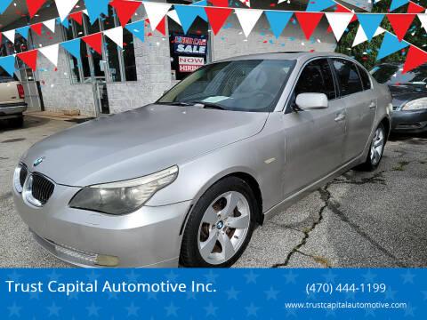 2008 BMW 5 Series for sale at Trust Capital Automotive Inc. in Covington GA