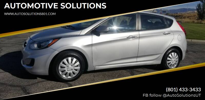 2014 Hyundai Accent for sale at AUTOMOTIVE SOLUTIONS in Salt Lake City UT