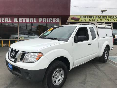2016 Nissan Frontier for sale at Sanmiguel Motors in South Gate CA