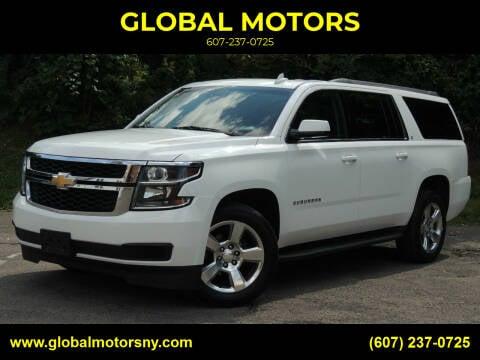 2016 Chevrolet Suburban for sale at GLOBAL MOTORS in Binghamton NY
