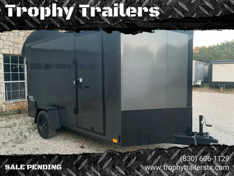 2021 Look Trailers 7X12+V RAMP  for sale at Trophy Trailers in New Braunfels TX