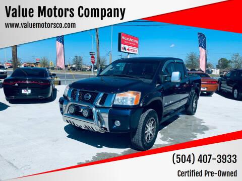 2012 Nissan Titan for sale at Value Motors Company in Marrero LA
