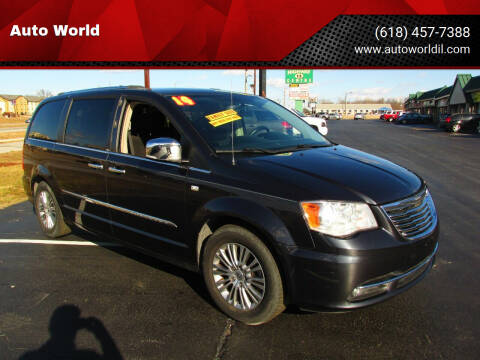 2014 Chrysler Town and Country for sale at Auto World in Carbondale IL