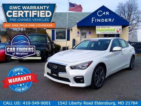 2014 Infiniti Q50 for sale at CAR FINDERS OF MARYLAND LLC in Eldersburg MD
