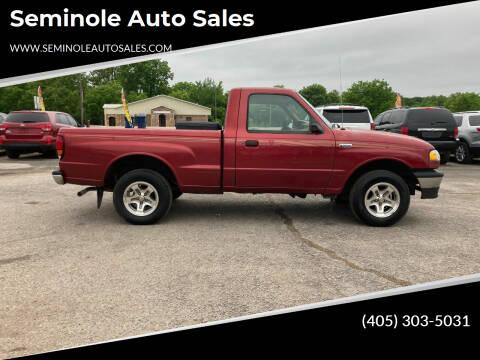 1998 Mazda B-Series Pickup for sale at Seminole Auto Sales in Seminole OK