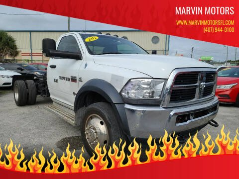 2012 RAM Ram Chassis 4500 for sale at Marvin Motors in Kissimmee FL