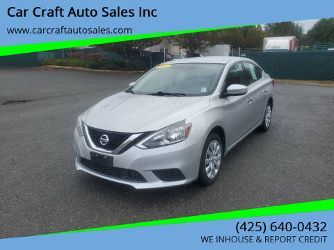 2018 Nissan Sentra for sale at Car Craft Auto Sales Inc in Lynnwood WA