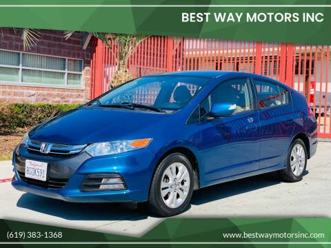 2012 Honda Insight for sale at BEST WAY MOTORS INC in San Diego CA
