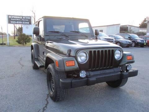 2005 Jeep Wrangler for sale at Supermax Autos in Strasburg VA