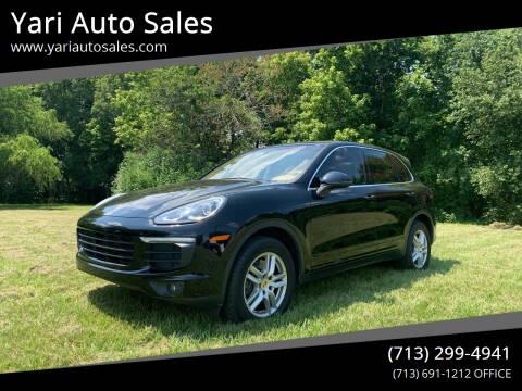 2016 Porsche Cayenne for sale at Yari Auto Sales in Houston TX