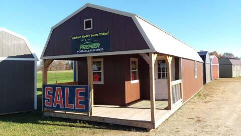 2020 premier portable building 14x40 Lofted Barn Cabin SOLD for sale at Dave's Auto Sales & Service - Premier Buildings in Weyauwega WI