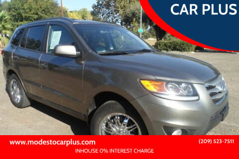 2012 Hyundai Santa Fe for sale at CAR PLUS in Modesto CA
