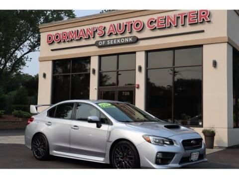 2016 Subaru WRX for sale at DORMANS AUTO CENTER OF SEEKONK in Seekonk MA