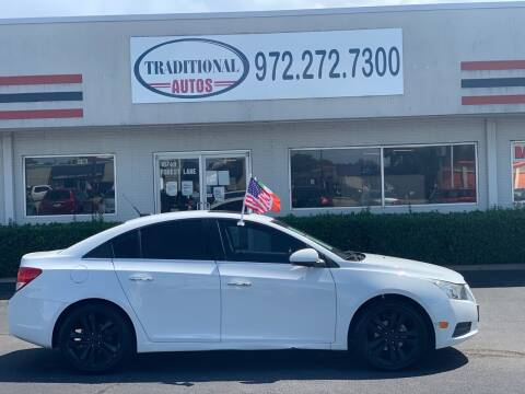 2011 Chevrolet Cruze for sale at Traditional Autos in Dallas TX