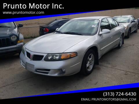 2002 Pontiac Bonneville for sale at Prunto Motor Inc. in Dearborn MI