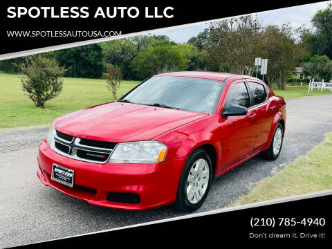 2014 Dodge Avenger for sale at SPOTLESS AUTO LLC in San Antonio TX