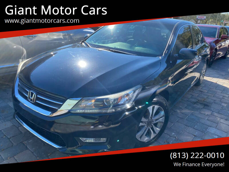 2013 Honda Accord for sale at Giant Motor Cars in Tampa FL