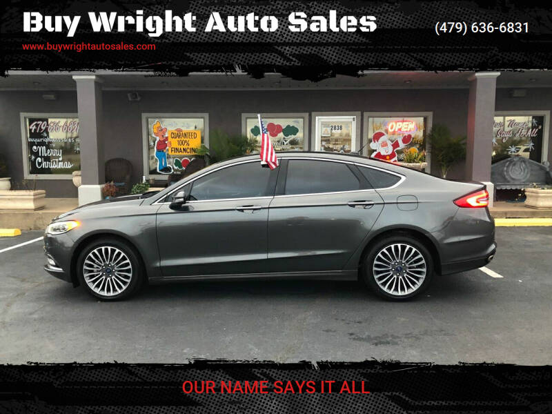 2017 Ford Fusion for sale at Buy Wright Auto Sales in Rogers AR