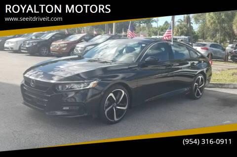 2018 Honda Accord for sale at ROYALTON MOTORS in Plantation FL