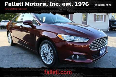 2016 Ford Fusion for sale at Falleti Motors, Inc.  est. 1976 in Batavia NY