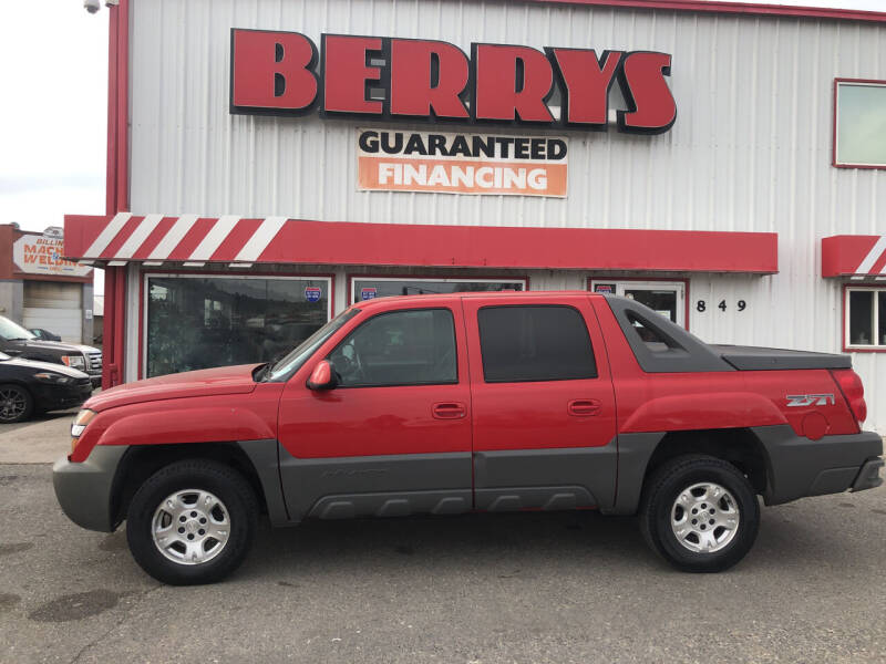 2002 Chevrolet Avalanche for sale at Berry's Cherries Auto in Billings MT