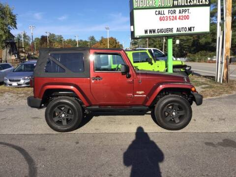 2007 Jeep Wrangler for sale at Giguere Auto Wholesalers in Tilton NH