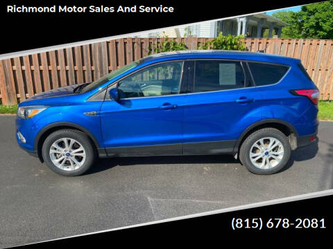 2017 Ford Escape for sale at Richmond Motor Sales and Service in Richmond IL