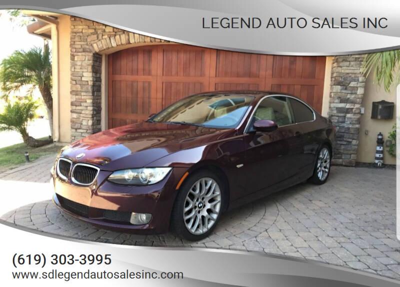 2007 BMW 3 Series for sale at Legend Auto Sales Inc in Lemon Grove CA
