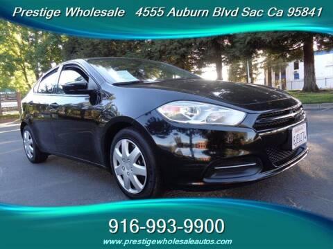 2016 Dodge Dart for sale at Prestige Wholesale in Sacramento CA