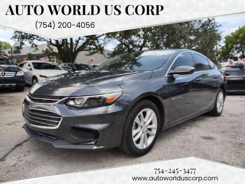2016 Chevrolet Malibu for sale at Auto World US Corp in Plantation FL