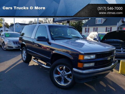 1999 Chevrolet Tahoe for sale at Cars Trucks & More in Howell MI