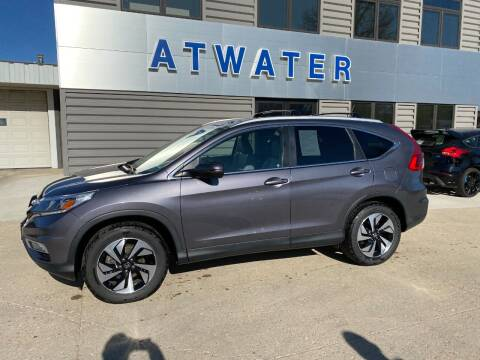 2016 Honda CR-V for sale at Atwater Ford Inc in Atwater MN